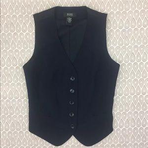 Body By Victoria Women's Navy Blue Vest Size 8 A39